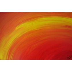 Painting No. 9 Horizont (2009) | Abstract Painting | 30x45cm | Acrylics on wood | Manuello | Art by Manuel Süess