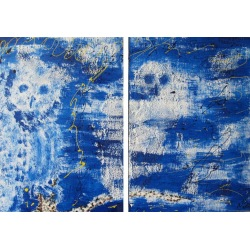 Painting No. 58 Twins (2009) | Abstract Painting | 42x62cm | Acrylics on wood | ART by MANUEL SÜESS