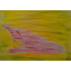 Painting No. 106 klagend (2009) | Abstract Painting | 30x42cm | Acrylics on wood | Manuello | Art by Manuel Süess