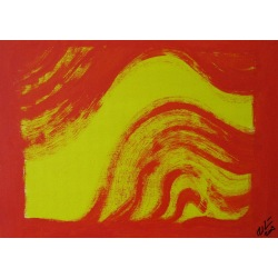 Painting No. 117 reiten (2009) | Abstract Painting | 30x42cm | Acrylics on wood | ART by MANUEL SÜESS