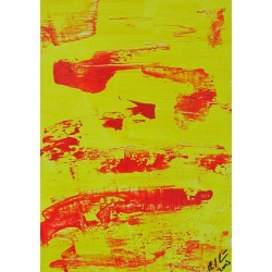 Painting No. 220 Blick (2009) | Abstract Painting | 30x21cm | Acrylics on wood | Manuello | Art by Manuel Süess