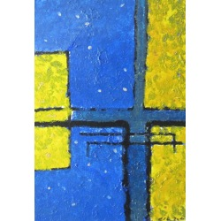 Painting No. 242 hope (2010) | Abstract Painting | 42x30cm | Acrylics on wood | ART by MANUEL SÜESS
