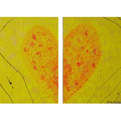 Painting No. 244 mine is yours (2010) | Abstract Painting | 28x41cm | Acrylics on wood | ART by MANUEL SÜESS