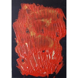 Painting No. 273 Ärgeniss (2010) | Abstract Painting | 45x33cm | Acrylics on wood | ART by MANUEL SÜESS