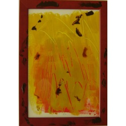 Painting No. 311 Horst (2011) | Abstract Painting | 34x24cm | Acrylics on paper | ART by MANUEL SÜESS