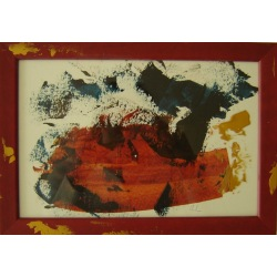 Painting No. 317 Bruno (2011) | Abstract Painting | 24x34cm | Acrylics on paper | ART by MANUEL SÜESS