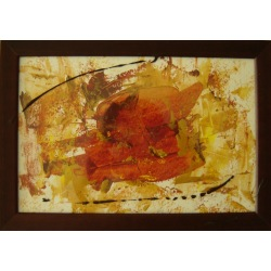 Painting No. 320 Angela (2011) | Abstract Painting | 24x34cm | Acrylics on paper | ART by MANUEL SÜESS