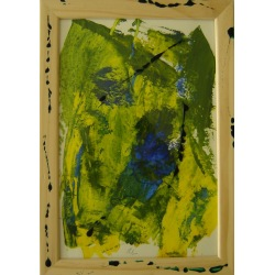 Painting No. 322 Yvonne (2011) | Abstract Painting | 34x24cm | Acrylics on paper | Manuello | Art by Manuel Süess