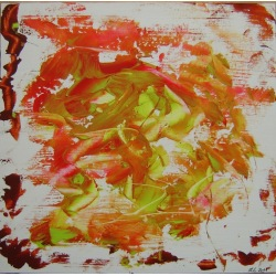 Painting No. 325 Frühlingsfreude (2011) | Abstract Painting | 52x53cm | Acrylics on wood | ART by MANUEL SÜESS