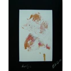 Painting No. 387 Lahja (2011) | Abstract Painting | 40x30cm | Acrylics on paper | ART by MANUEL SÜESS