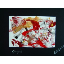 Painting No. 389 Gagik (2011) | Abstract Painting | 30x40cm | Acrylics on paper | Manuello | Art by Manuel Süess