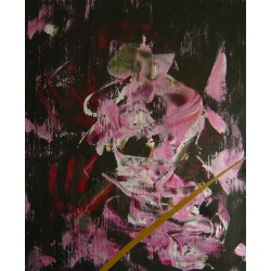 Painting No. 403 widerspenstig (2011) | Abstract Painting | 55x45cm | Acrylics on spruce | Manuello | Art by Manuel Süess