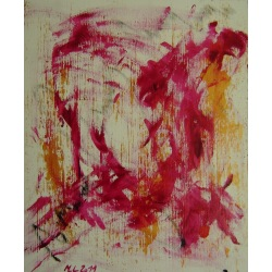 Painting No. 410 genervt (2011) | Abstract Painting | 55x45cm | Acrylics on spruce | Manuello | Art by Manuel Süess