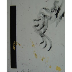 Painting No. 415 Die Hand (2011) | Abstract Painting | 55x45cm | Acrylics on spruce | ART by MANUEL SÜESS