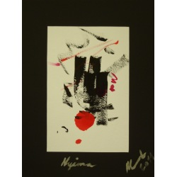 Painting No. 428 Nyima (2011) | Abstract Painting | 40x30cm | Acrylics on paper | ART by MANUEL SÜESS