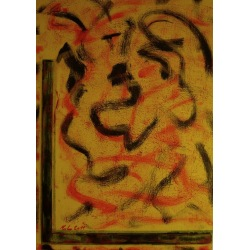 Painting No. 431 innere Flammen II (2011) | Abstract Painting | 70x50cm | Acrylics on spruce | ART by MANUEL SÜESS
