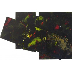 Painting No. 447 Sein (2011) | Abstract Painting | 43x64cm | Acrylics on wood | Manuello | Art by Manuel Süess