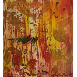 Painting No. 483 Die Türe (2012) | Abstract Painting | 43x40cm | Acrylics on spruce | Manuello | Art by Manuel Süess