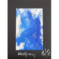 Painting No. 498 Wolfgang (2012) | Abstract Painting | 40x30cm | Acrylics on paper | Manuello | Art by Manuel Süess