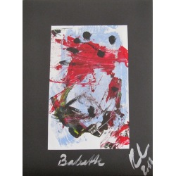 Painting No. 503 Babette (2012) | Abstract Painting | 40x30cm | Acrylics on paper | Manuello | Art by Manuel Süess