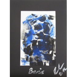 Painting No. 508 Boris (2012) | Abstract Painting | 40x30cm | Acrylics on paper | Manuello | Art by Manuel Süess