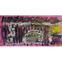 Painting No. 628 Draussen die Sonne II (2013) | Abstract Painting | 50x100cm | Acrylics on canvas | Manuello | Art by Manuel Süess