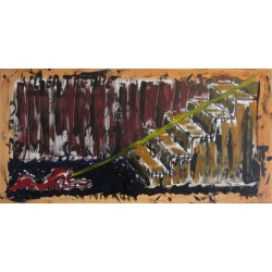 Painting No. 630 Kellertreppe (2013) | Abstract Painting | 50x100cm | Acrylics on canvas | ART by MANUEL SÜESS