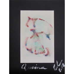 Painting No. 513 Quirina (2012) | Abstract Painting | 40x30cm | Acrylics on paper | Manuello | Art by Manuel Süess