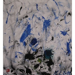 Painting No. 579 Eisige Winde (2012) | Abstract Painting | 43x40cm | Acrylics on spruce | ART by MANUEL SÜESS