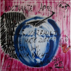 Painting No. 605 abstrakter Apfel (2013) | Abstract Painting | 100x100cm | Acrylics on canvas | ART by MANUEL SÜESS