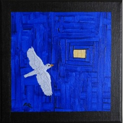 Painting No. 756 Little Bird Painting I.5 (2016) | 20x20cm | Acrylics on canvas | ART by MANUEL SÜESS