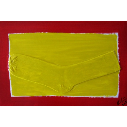 Painting No. 25 keiSchue (2009) | Abstract Painting | 30x44.5cm | Acrylics on wood | Manuello | Art by Manuel Süess