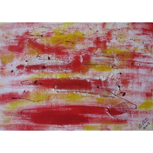 Painting No. 54 Sturm (2009) | Abstract Painting | 30x42cm | Acrylics on wood | ART by MANUEL SÜESS