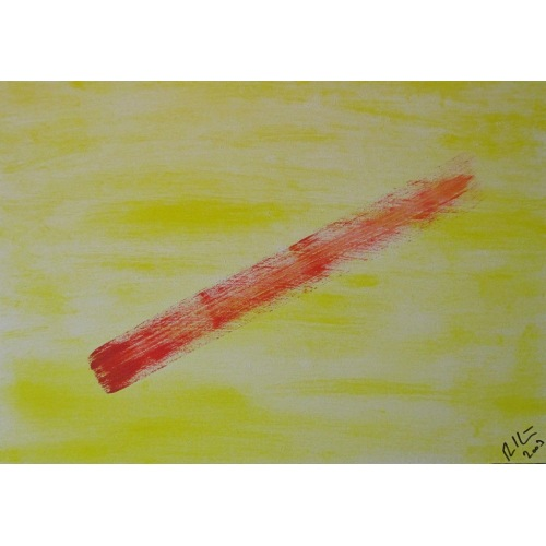 Painting No. 103 immer aufwärts? (2009) | Abstract Painting | 35x50cm | Acrylics on wood | ART by MANUEL SÜESS
