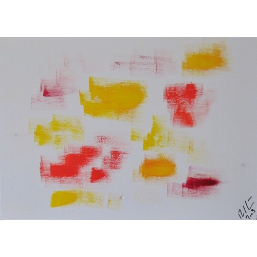 Painting No. 145 Freude (2009)   Abstract Painting   30x42cm   Acrylics on wood   ART by MANUEL SÜESS