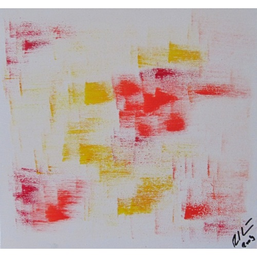 Painting No. 146 Freude II (2009) | Abstract Painting | 24x25cm | Acrylics on wood | ART by MANUEL SÜESS