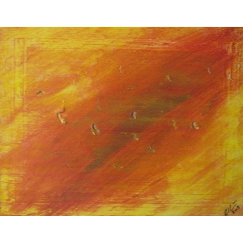 Painting No. 162 Brandschaden (2009) | Abstract Painting | 36x46cm | Acrylics on wood | ART by MANUEL SÜESS