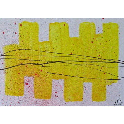 Painting No. 178 Schalthebel (2009)   Abstract Painting   30x42cm   Acrylics on wood   Manuello   Art by Manuel Süess