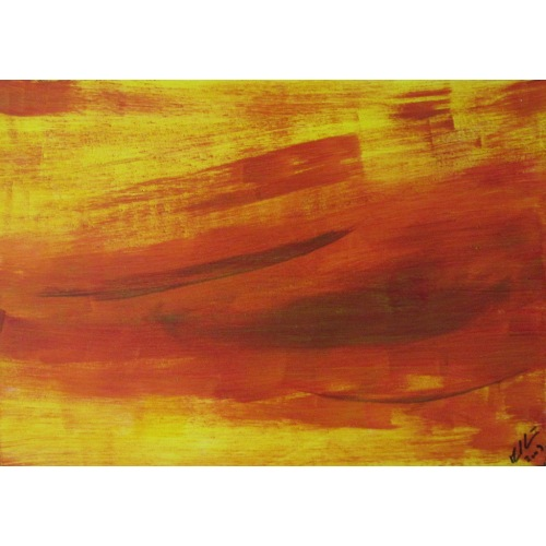 Painting No. 190 weiter (2009)   Abstract Painting   30x42cm   Acrylics on wood   Manuello   Art by Manuel Süess