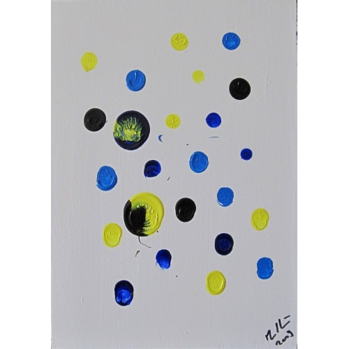 Painting No. 195 ruhige Freude (2009) | Abstract Painting | 30x21cm | Acrylics on wood | ART by MANUEL SÜESS