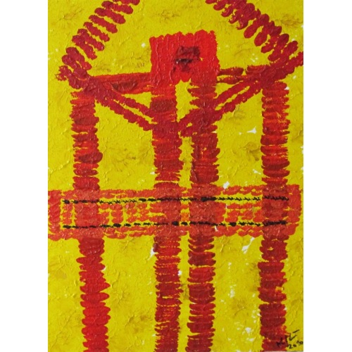 Painting No. 228 Umarmung (2010) | Abstract Painting | 42x30cm | Acrylics on wood | ART by MANUEL SÜESS