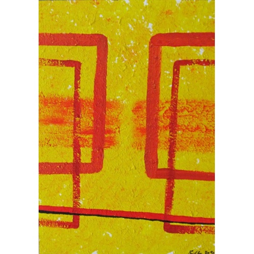 Painting No. 232 Kuss (2010) | Abstract Painting | 42x30cm | Acrylics on wood | ART by MANUEL SÜESS
