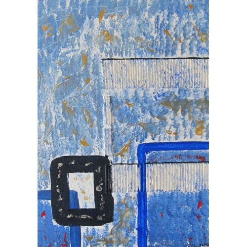 Painting No. 236 nachdenklich II (2010) | Abstract Painting | 42x30cm | Acrylics on wood | ART by MANUEL SÜESS