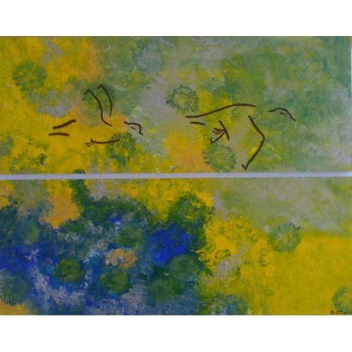 Painting No. 275 Frei (2010) | Abstract Painting | 62x76cm | Acrylics on wood | ART by MANUEL SÜESS