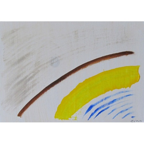 Painting No. 297 Ruhe (2010) | Abstract Painting | 30x42cm | Acrylics on wood | ART by MANUEL SÜESS