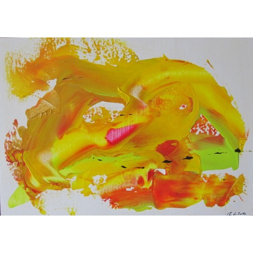 Painting No. 301 Energie der Freude (2010) | Abstract Painting | 30x42cm | Acrylics on wood | ART by MANUEL SÜESS
