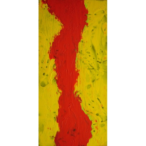 Painting No. 327 ausziehn! (2011) | Abstract Painting | 105x50cm | Acrylics on wood | Manuello | Art by Manuel Süess