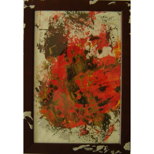 Painting No. 331 Muriell (2011) | Abstract Painting | 34x24cm | Acrylics on paper | ART by MANUEL SÜESS