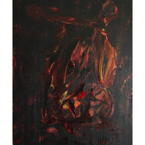 Painting No. 405 inneres Aufbegehren (2011) | Abstract Painting | 55x45cm | Acrylics on spruce | ART by MANUEL SÜESS