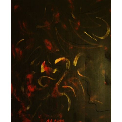 Painting No. 440 innere Freude (2011) | Abstract Painting | 55x45cm | Acrylics on spruce | ART by MANUEL SÜESS